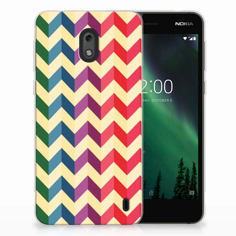 Nokia 2 TPU bumper Zigzag Multi Color