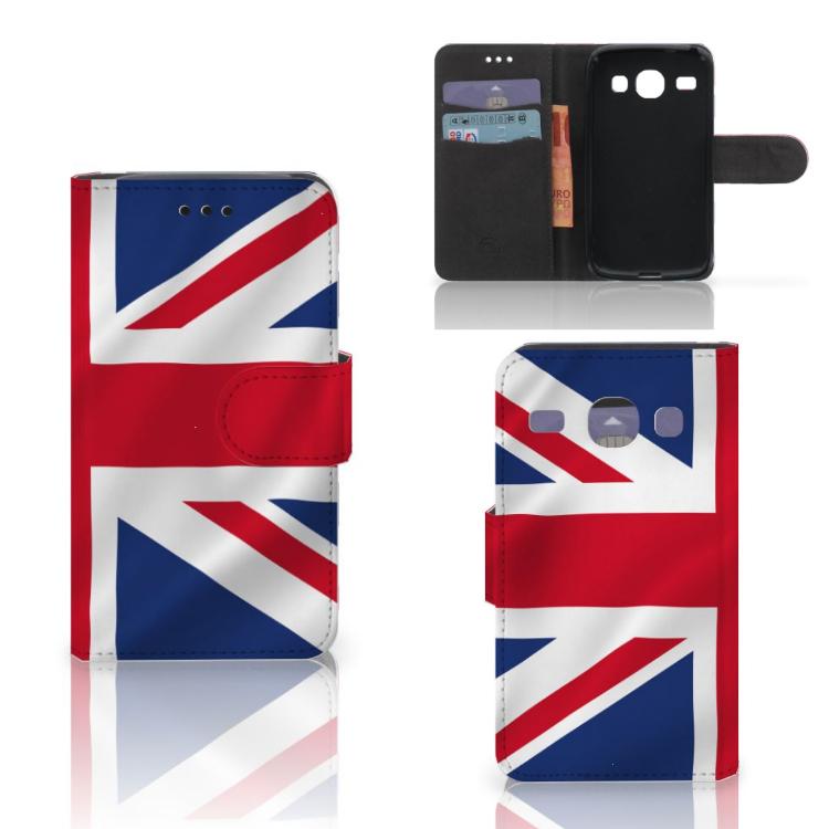 Samsung Galaxy Core i8260 Bookstyle Case Groot-Brittannië