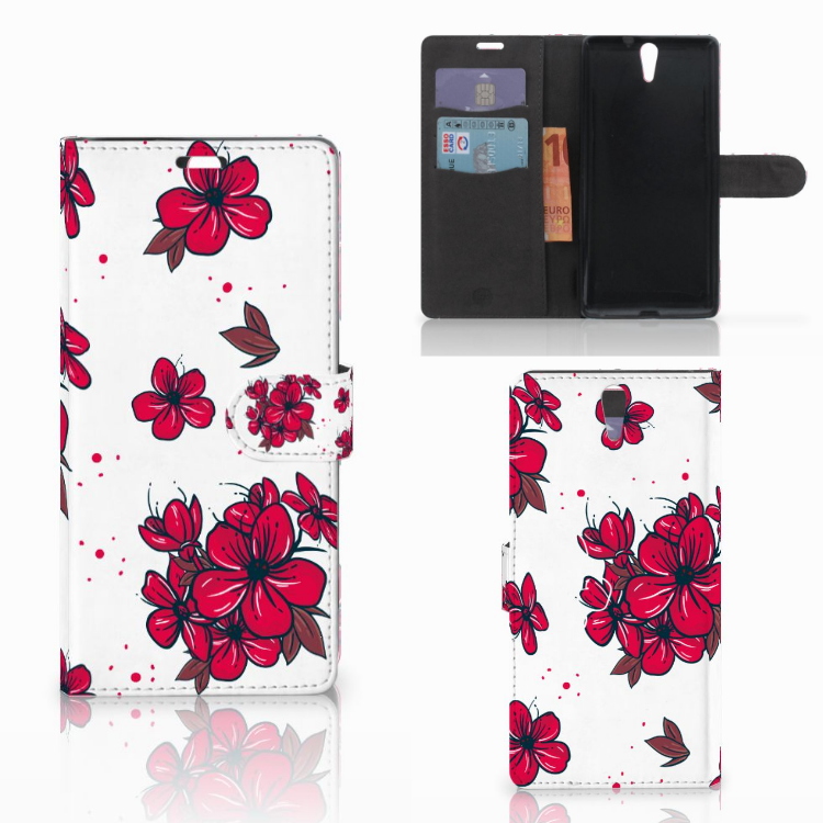 Sony Xperia C5 Ultra Hoesje Blossom Red