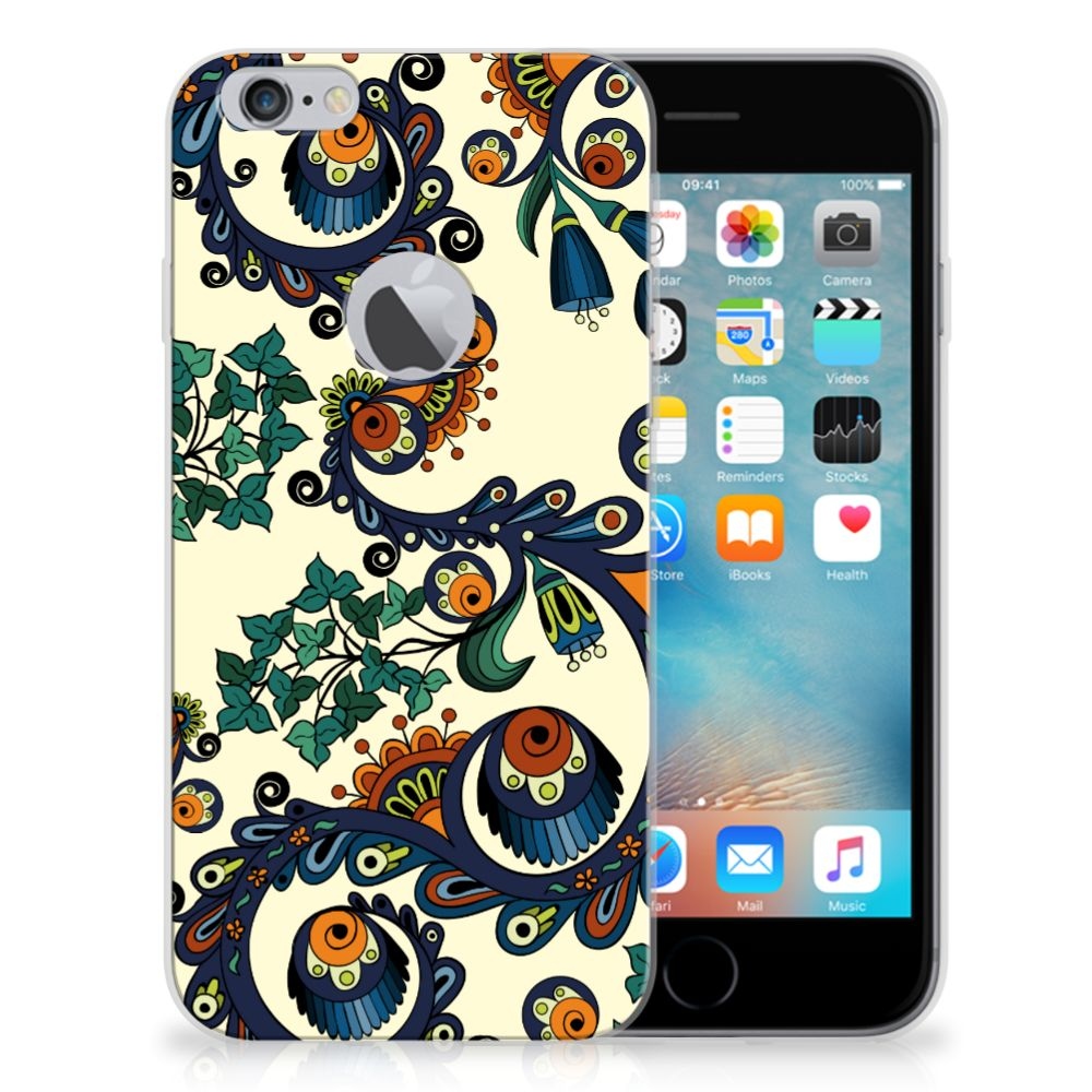 Siliconen Hoesje Apple iPhone 6 Plus | 6s Plus Barok Flower