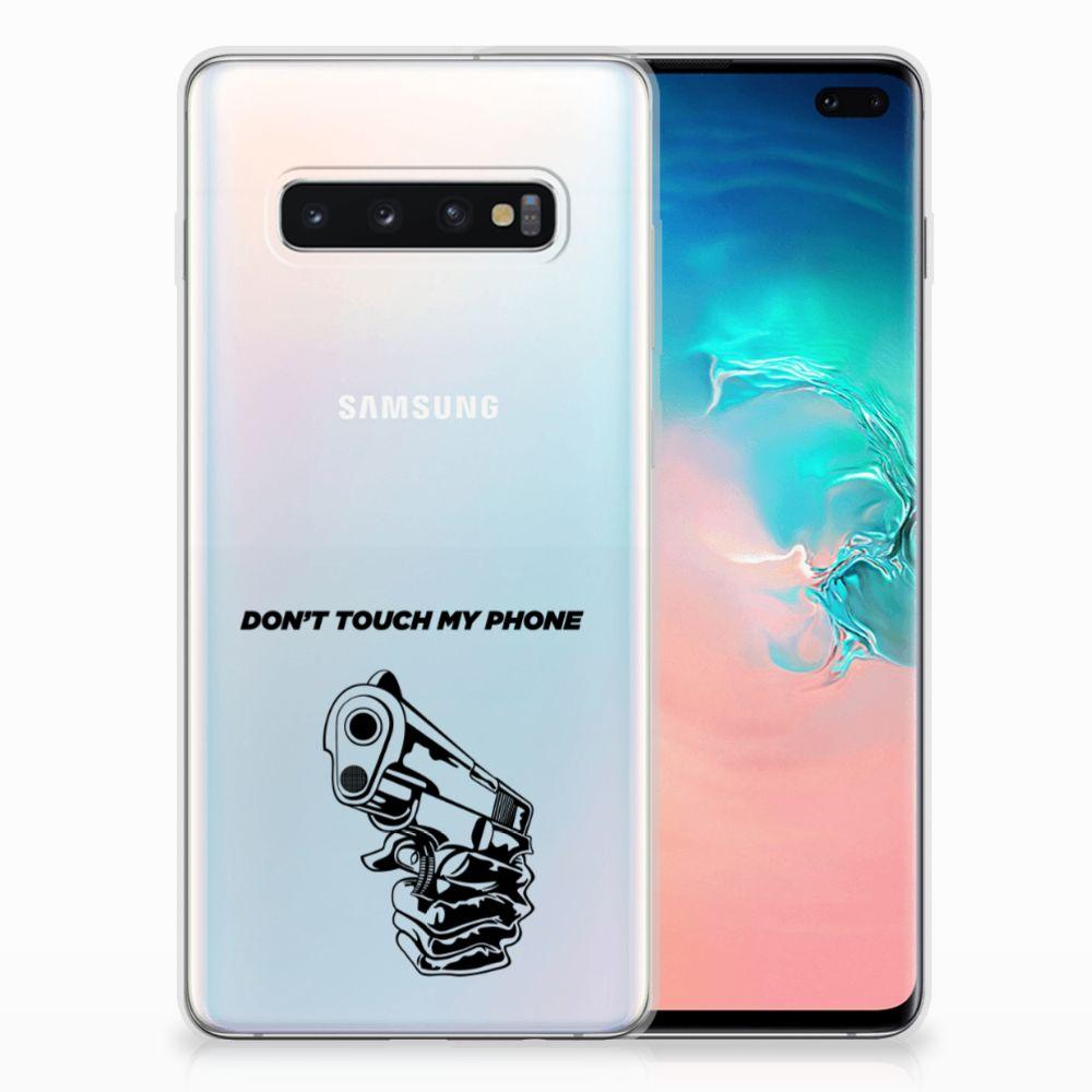 Samsung Galaxy S10 Plus Silicone-hoesje Gun DTMP
