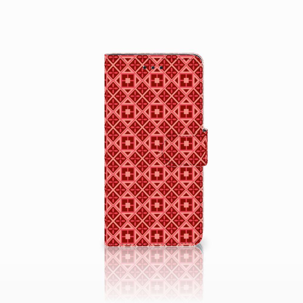 Huawei Y5 2018 Telefoon Hoesje Batik Rood