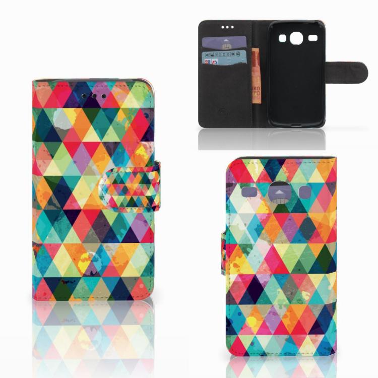 Samsung Galaxy Core i8260 Telefoon Hoesje Geruit