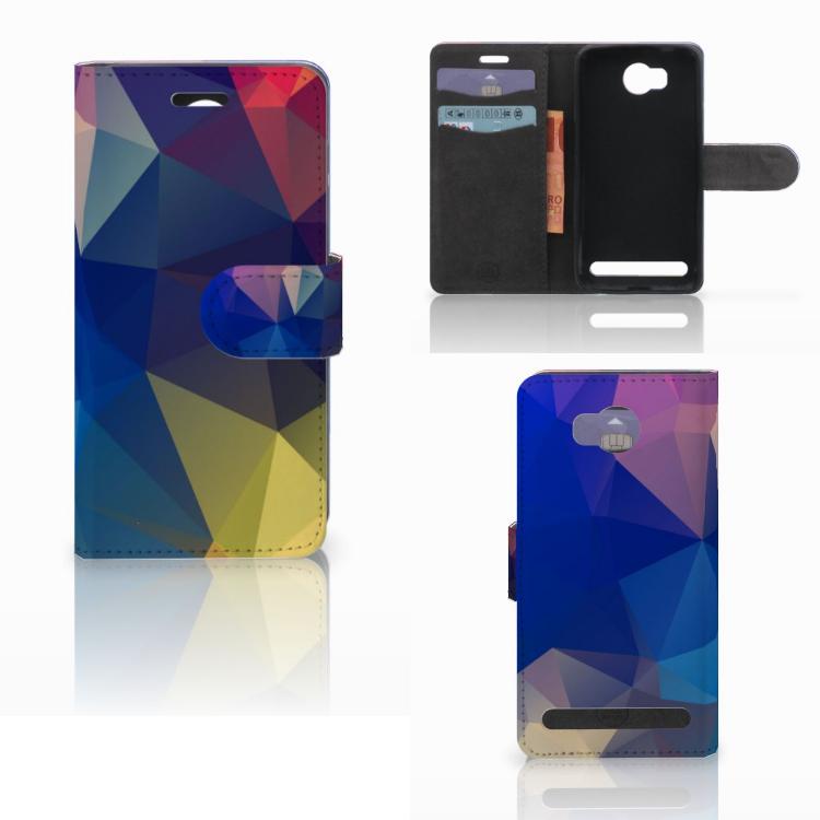 Huawei Y3 2 | Y3 II Bookcase Polygon Dark