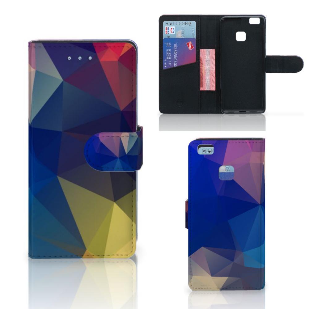 Huawei P9 Lite Bookcase Polygon Dark