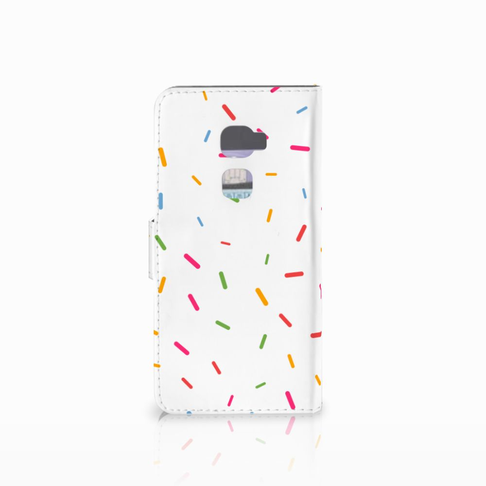 Huawei Mate S Book Cover Donut Roze