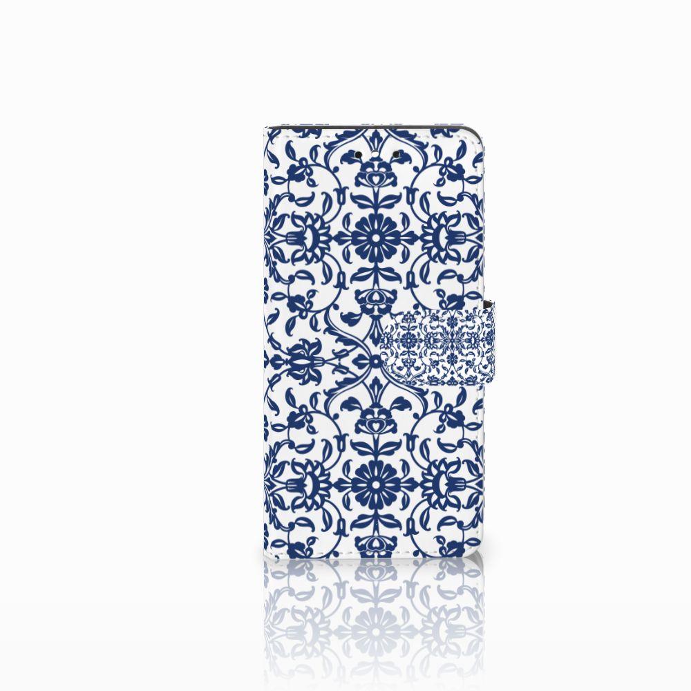 Huawei P8 Lite Smart (GR3) Boekhoesje Flower Blue