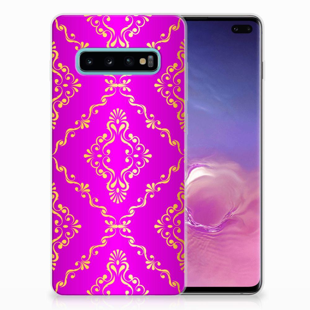 Samsung Galaxy S10 Plus Uniek TPU Hoesje Barok Roze