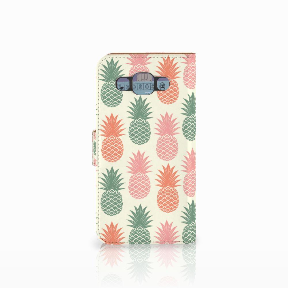 Samsung Galaxy E5 Book Cover Ananas