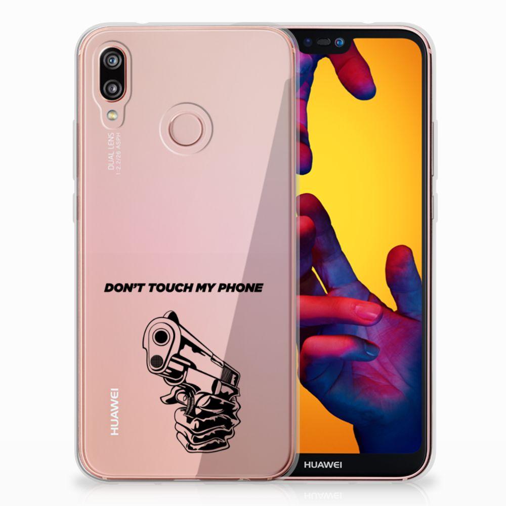 Huawei P20 Lite Uniek TPU Hoesje Gun DTMP