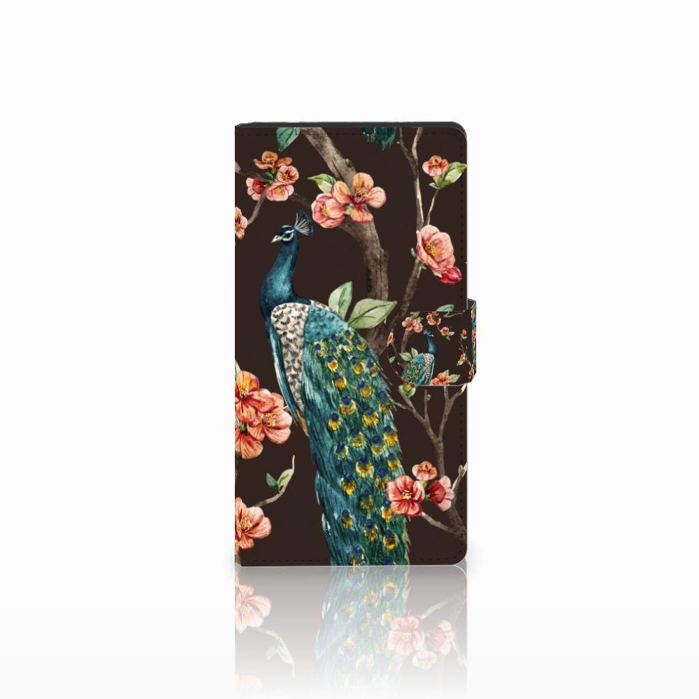 Sony Xperia C4 Boekhoesje Design Pauw met Bloemen
