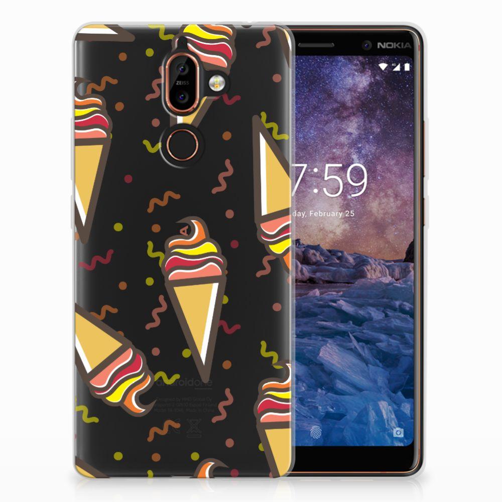Nokia 7 Plus Siliconen Case Icecream