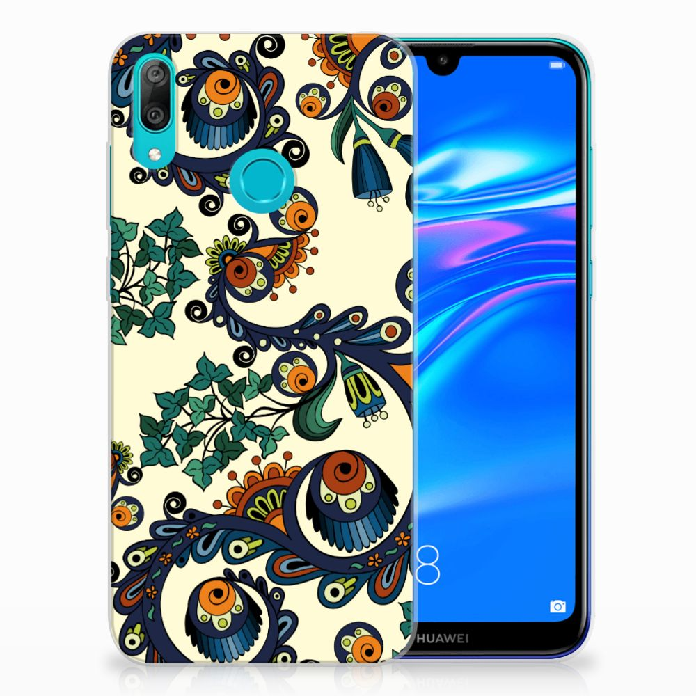 Siliconen Hoesje Huawei Y7 2019 Barok Flower