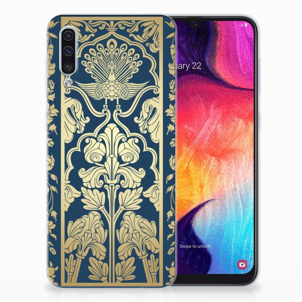Samsung Galaxy A50 TPU Case Golden Flowers