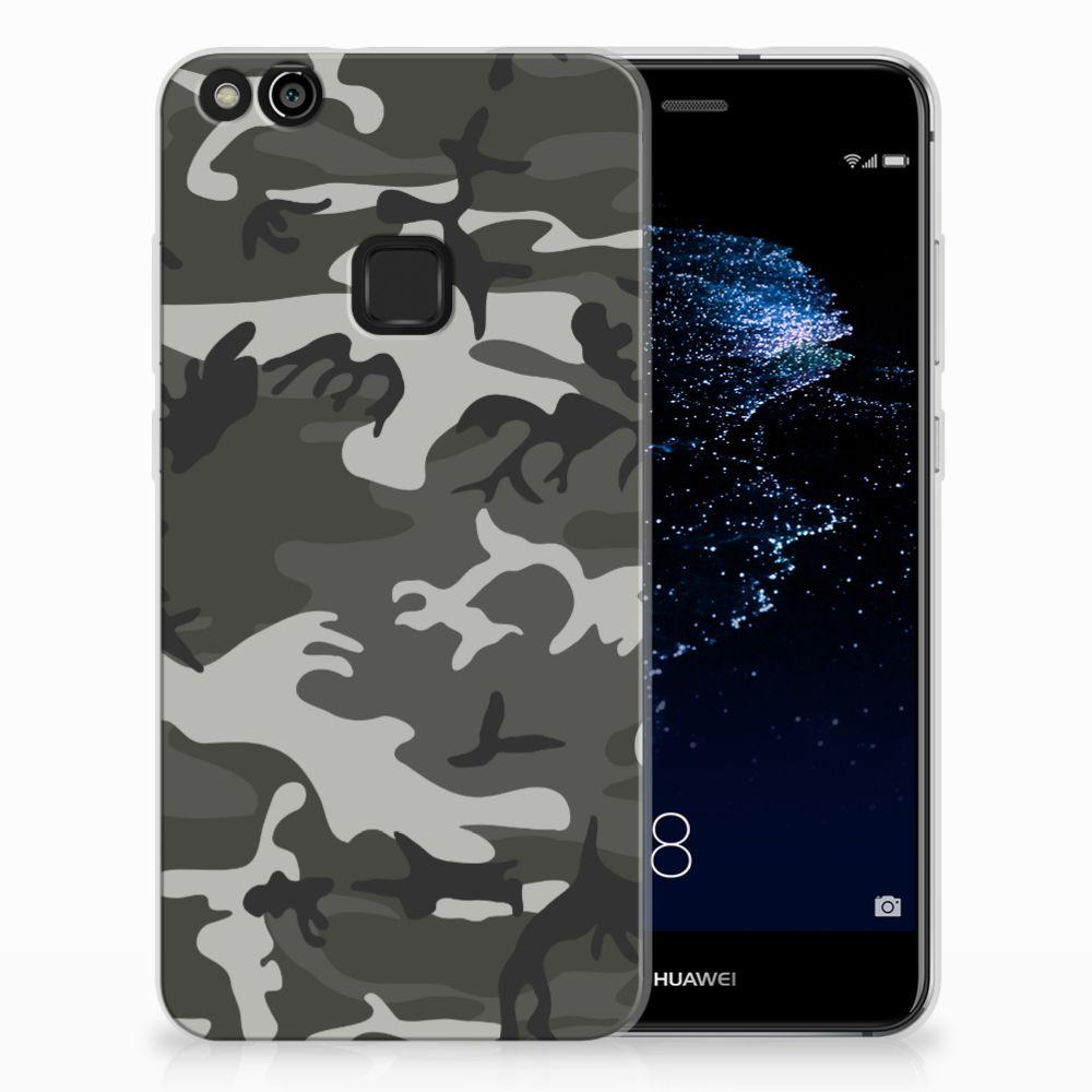 Huawei P10 Lite Uniek TPU Hoesje Army Light