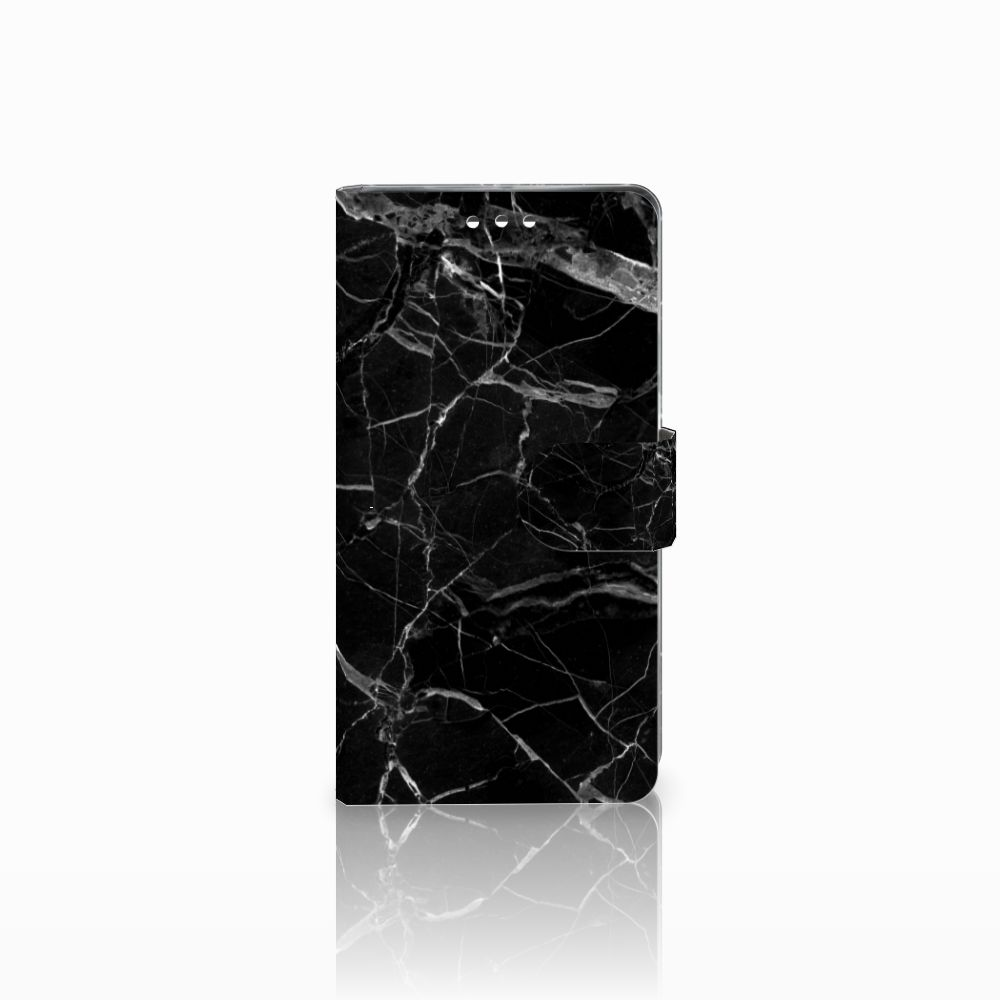 Sony Xperia XZ1 Bookcase Marmer Zwart - Origineel Cadeau Vader