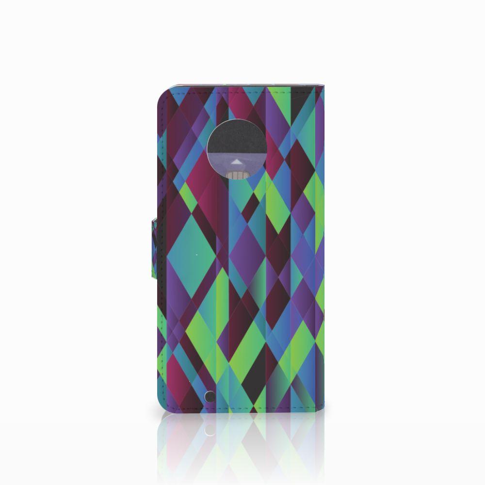 Motorola Moto G6 Bookcase Abstract Green Blue
