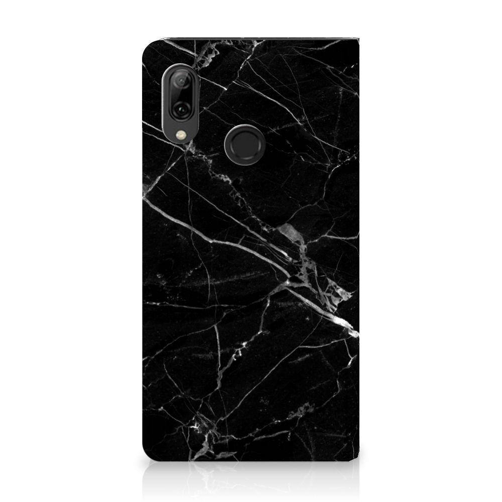 Huawei P Smart (2019) Standcase Hoesje Marmer Zwart