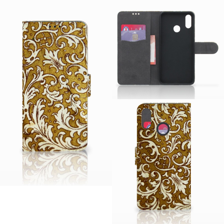 Wallet Case Huawei P Smart Plus Barok Goud