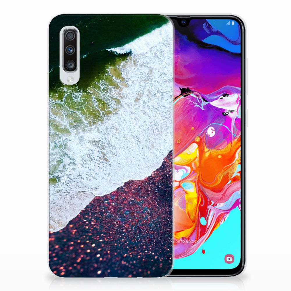 Samsung Galaxy A70 TPU Hoesje Sea in Space
