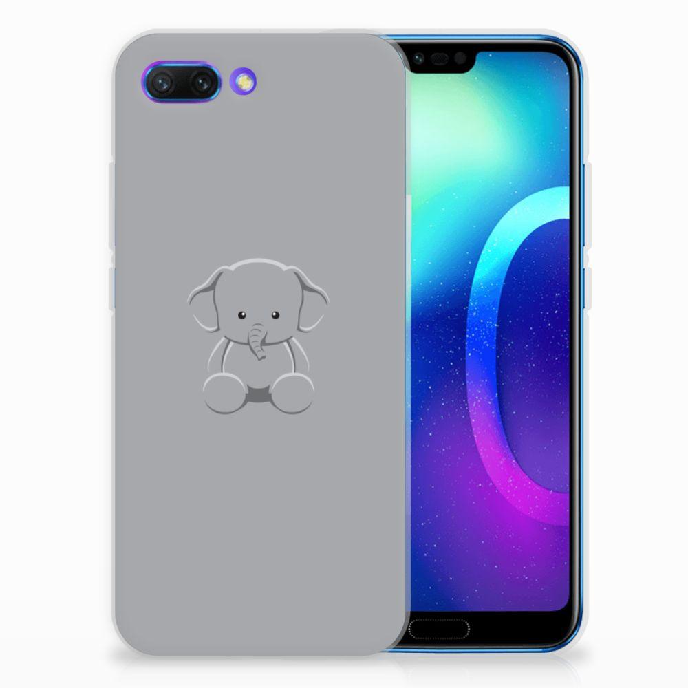 Huawei Honor 10 Uniek TPU Hoesje Baby Olifant