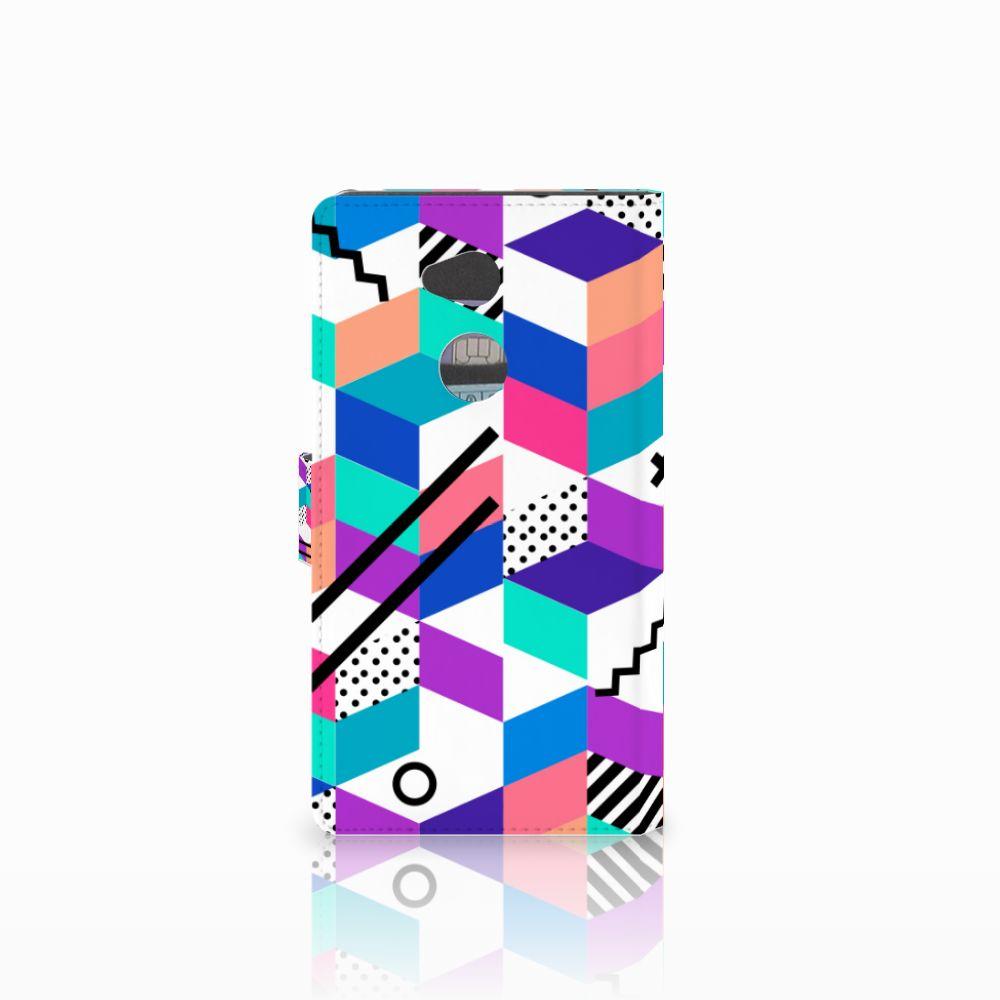 Sony Xperia XA2 Ultra Bookcase Blokken Kleurrijk