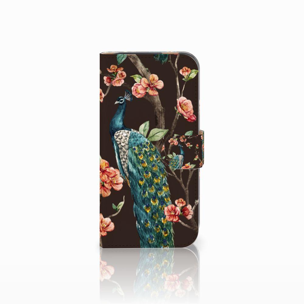HTC One M8 Boekhoesje Design Pauw met Bloemen