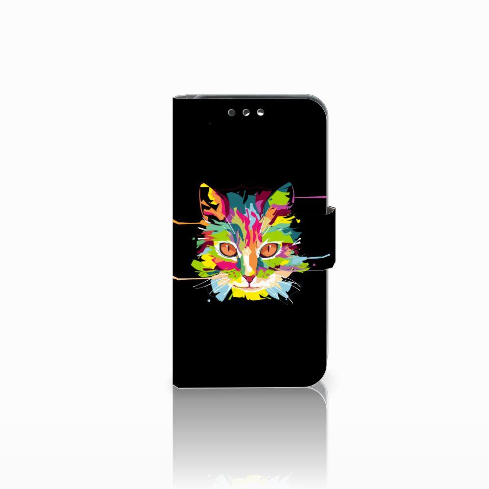 Huawei Y5 Y560 Uniek Boekhoesje Cat Color