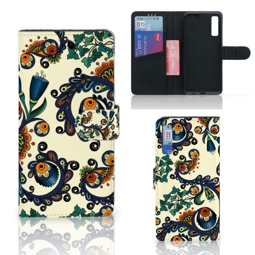 Wallet Case Samsung Galaxy A7 (2018) Barok Flower