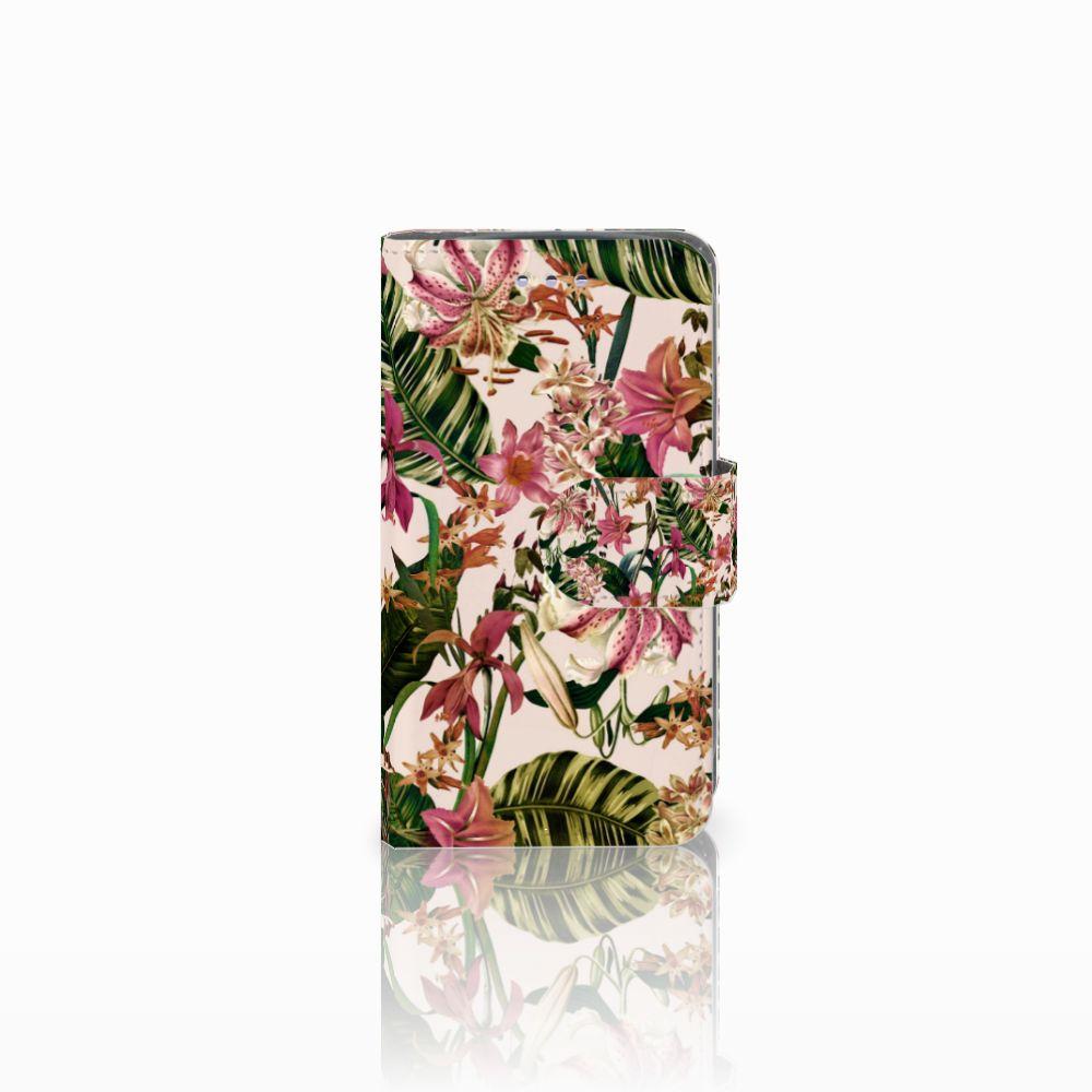 Samsung Galaxy S3 Mini Uniek Boekhoesje Flowers