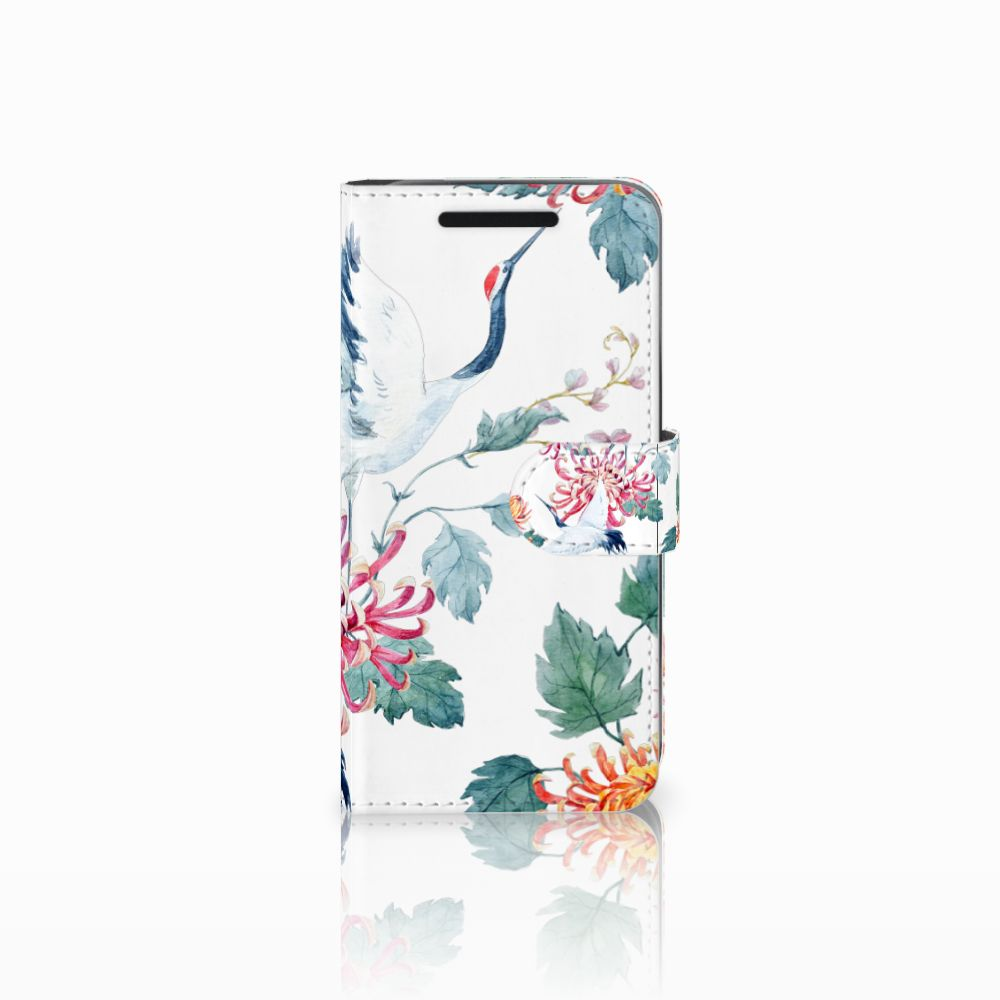 HTC One M9 Uniek Boekhoesje Bird Flowers