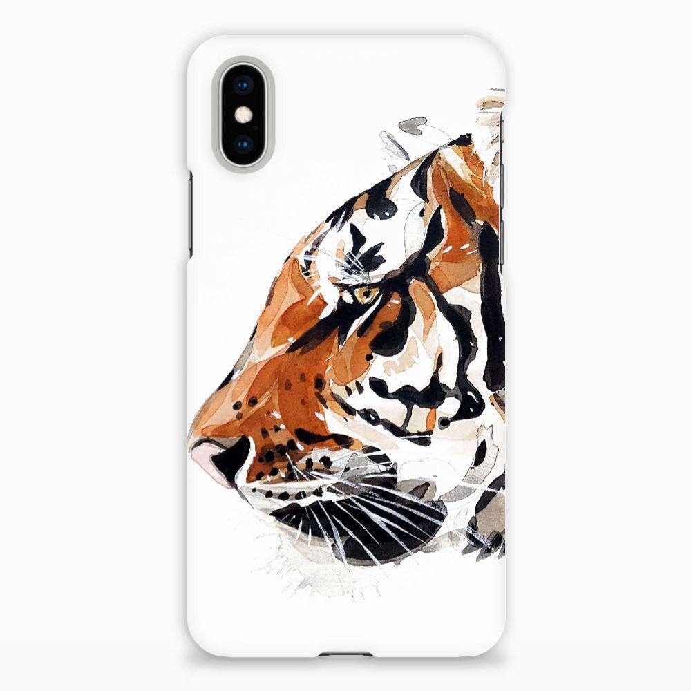 Apple iPhone X | Xs Uniek Hardcase Hoesje Watercolor Tiger