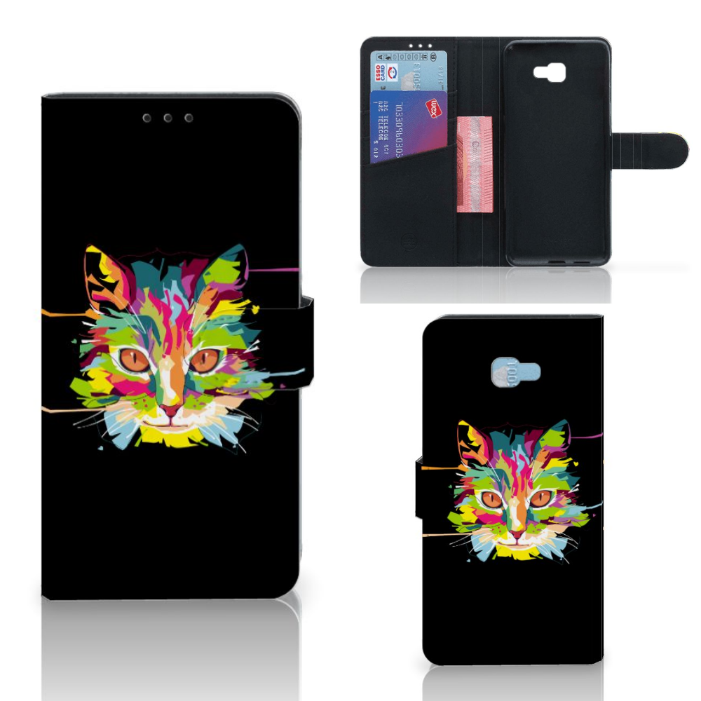 Samsung Galaxy J4 Plus (2018) Leuk Hoesje Cat Color