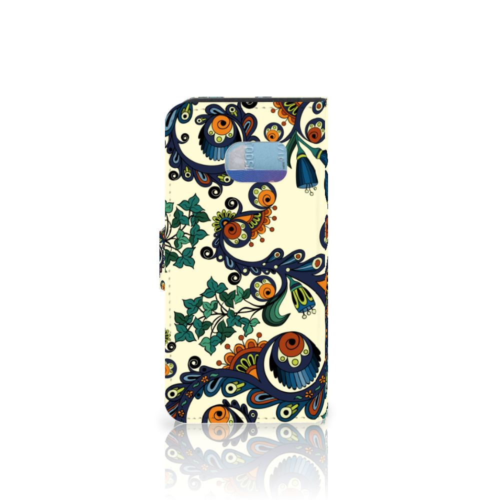 Wallet Case Samsung Galaxy S6 Edge Barok Flower