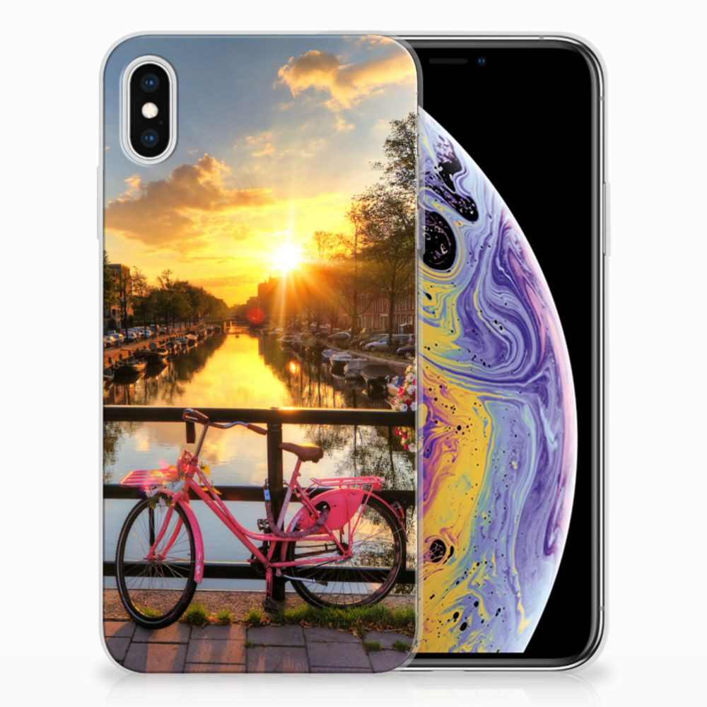 Apple iPhone Xs Max Siliconen Back Cover Amsterdamse Grachten