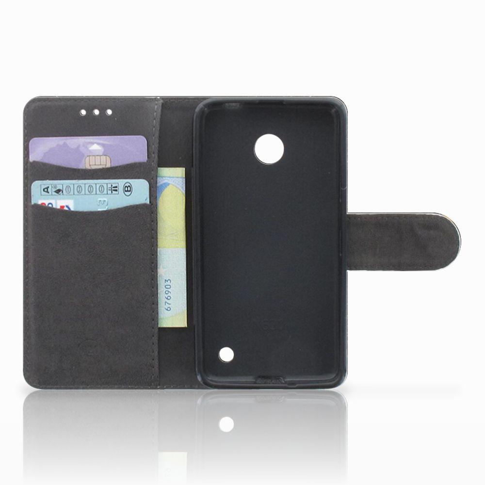 Nokia Lumia 630 Telefoonhoesje met Pasjes Zwarte Kat