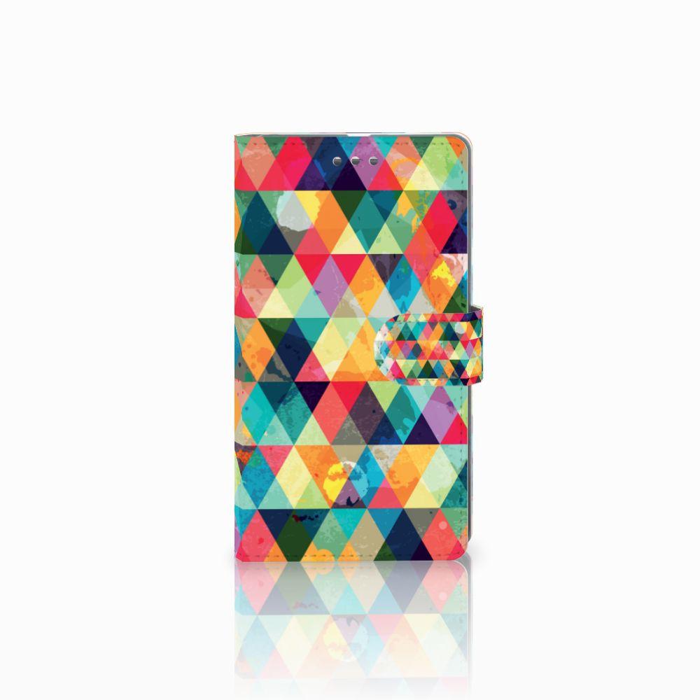 Microsoft Lumia 950 XL Uniek Boekhoesje Geruit