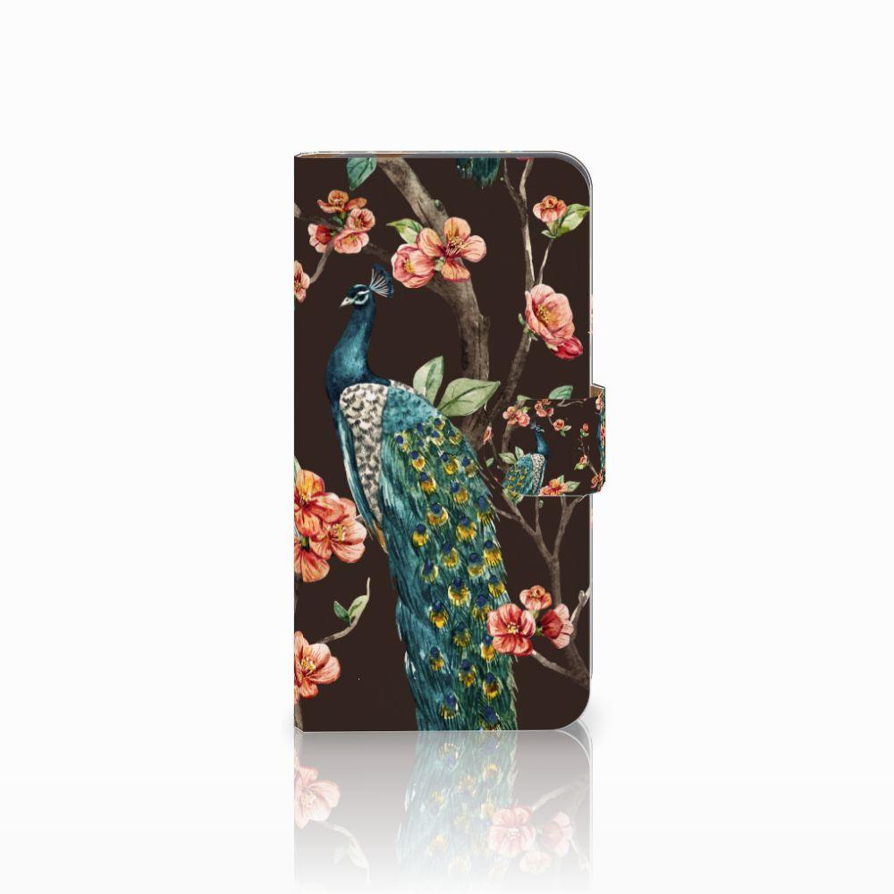 Huawei Nova Plus Boekhoesje Design Pauw met Bloemen