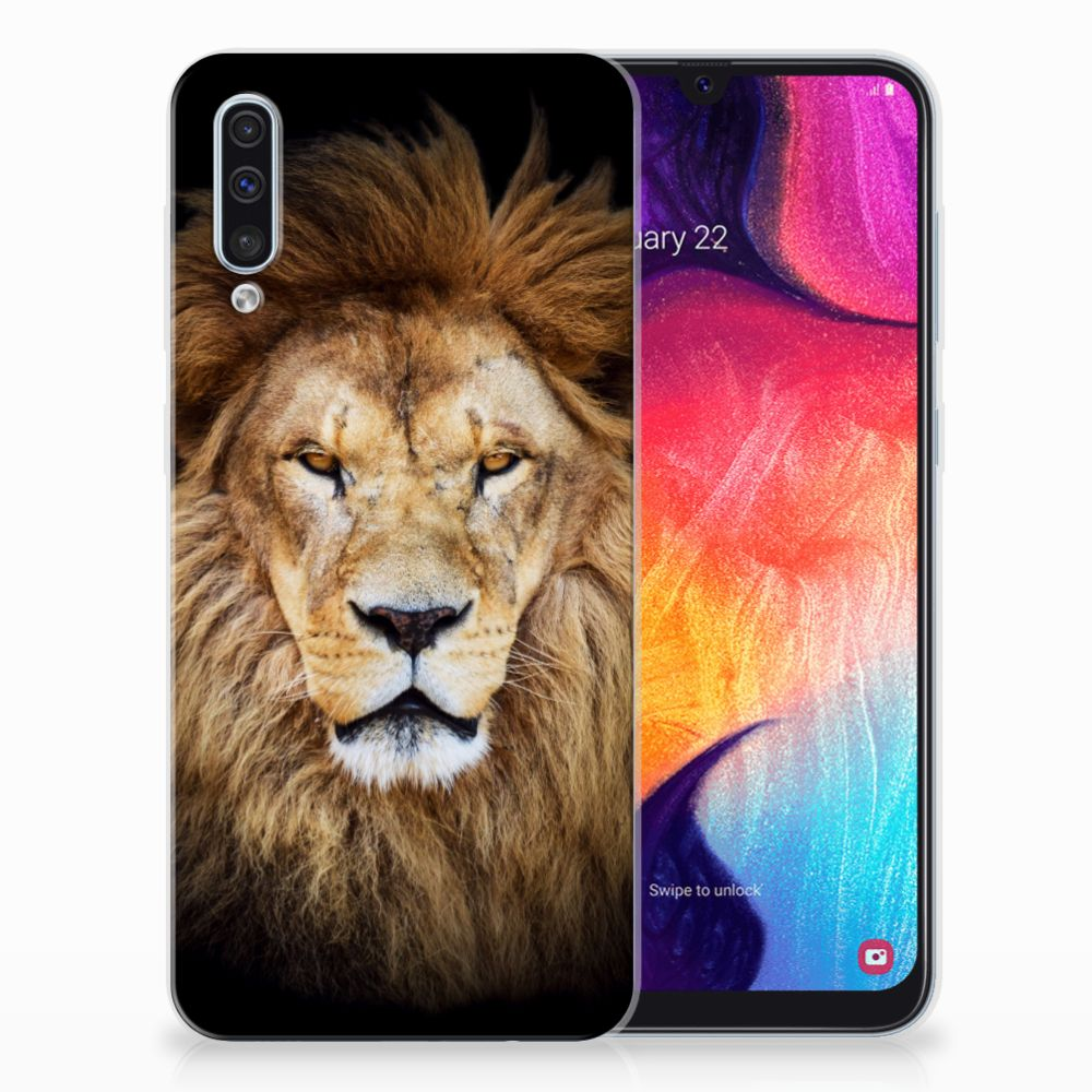Samsung Galaxy A50 TPU Hoesje Leeuw