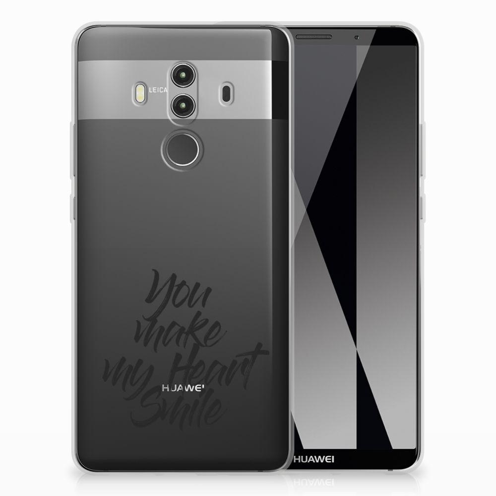 Huawei Mate 10 Pro Siliconen hoesje met naam Heart Smile