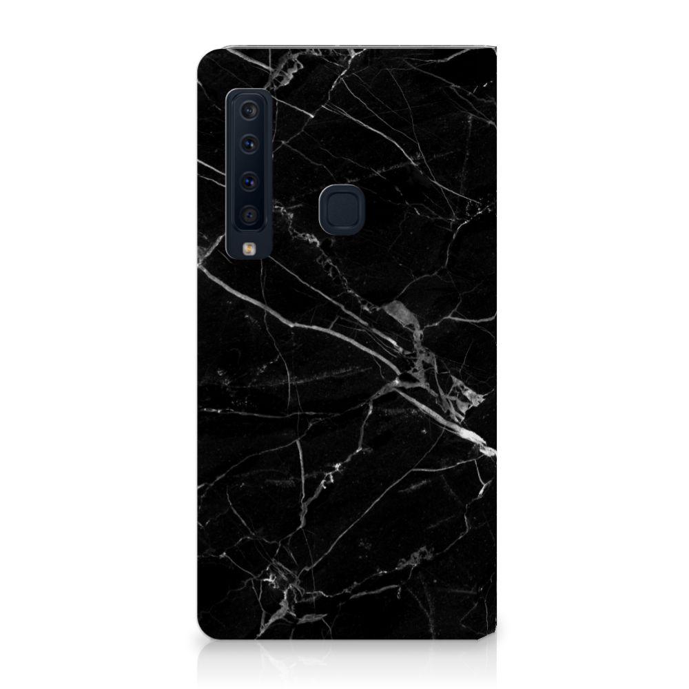 Samsung Galaxy A9 (2018) Uniek Standcase Hoesje Marmer Zwart