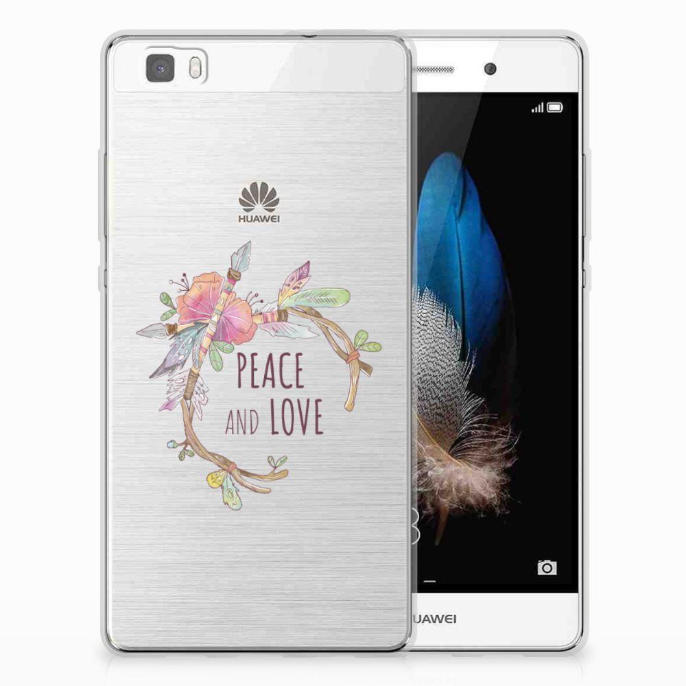 Huawei Ascend P8 Lite Uniek TPU Hoesje Boho Text
