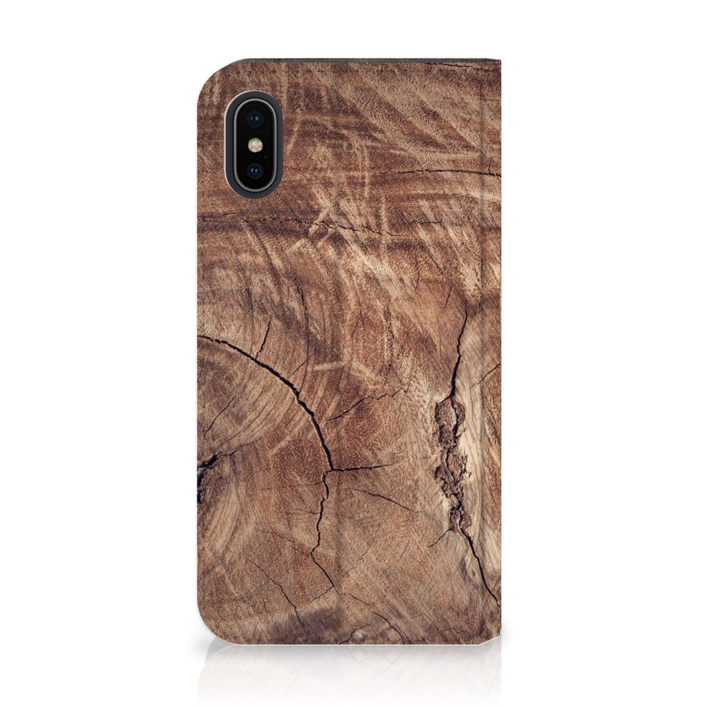 Apple iPhone X | Xs Standcase Hoesje Design Tree Trunk