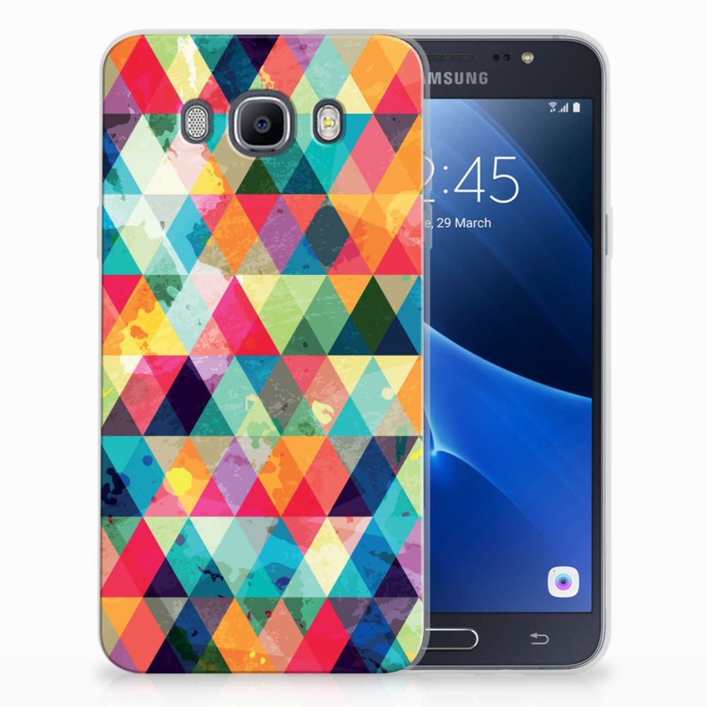 Samsung Galaxy J7 2016 Uniek TPU Hoesje Geruit