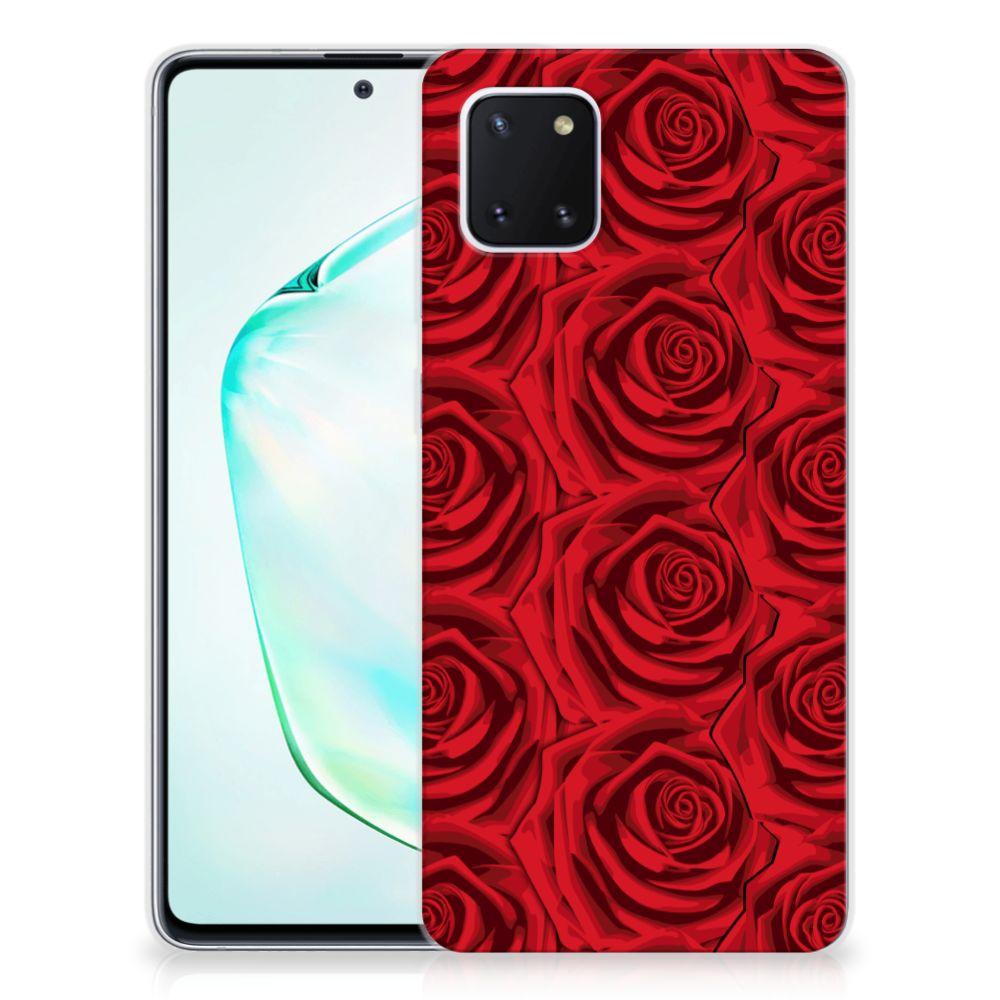 Samsung Galaxy Note 10 Lite TPU Case Red Roses