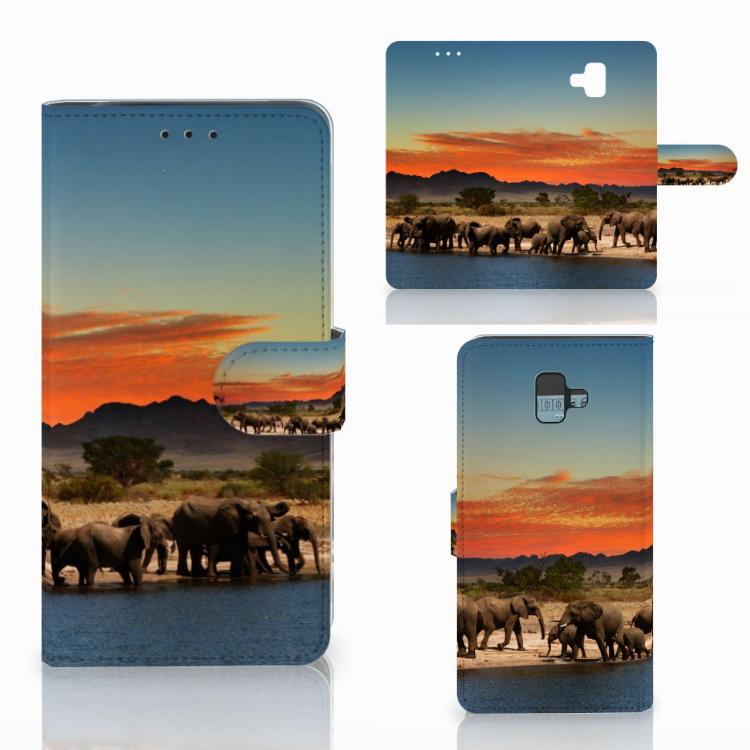 Samsung Galaxy J6 Plus (2018) Telefoonhoesje met Pasjes Olifanten
