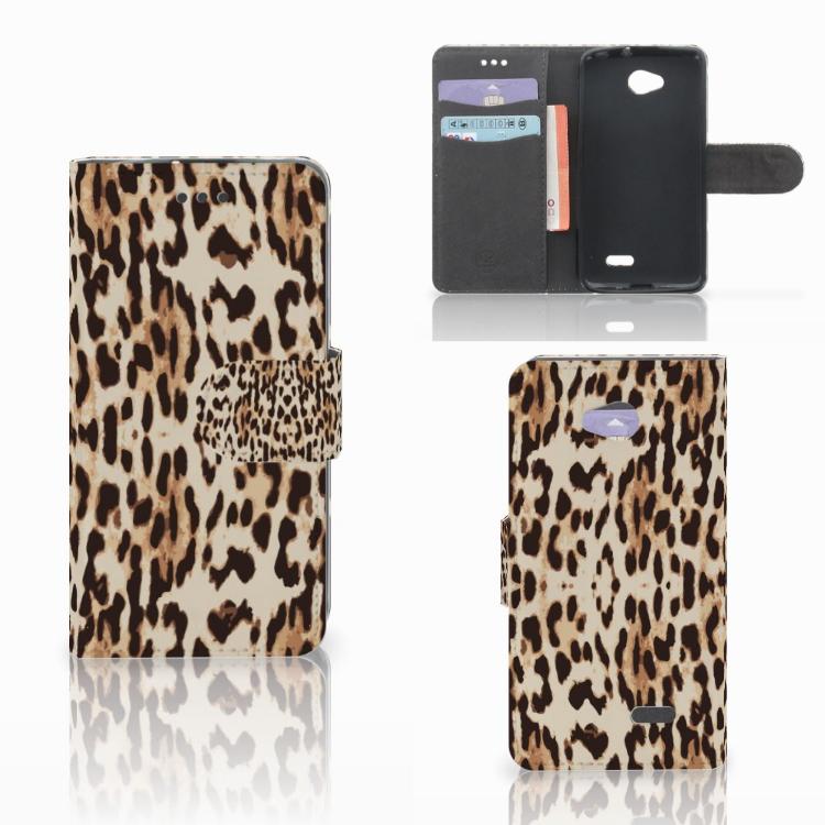 LG L70 Telefoonhoesje met Pasjes Leopard
