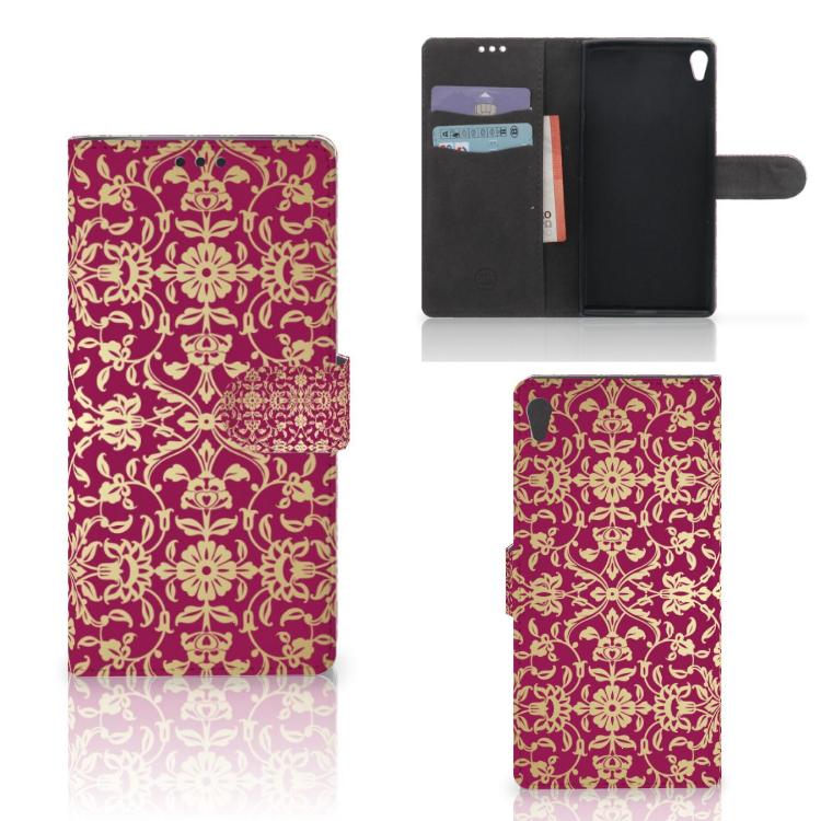 Wallet Case Sony Xperia XA Ultra Barok Pink