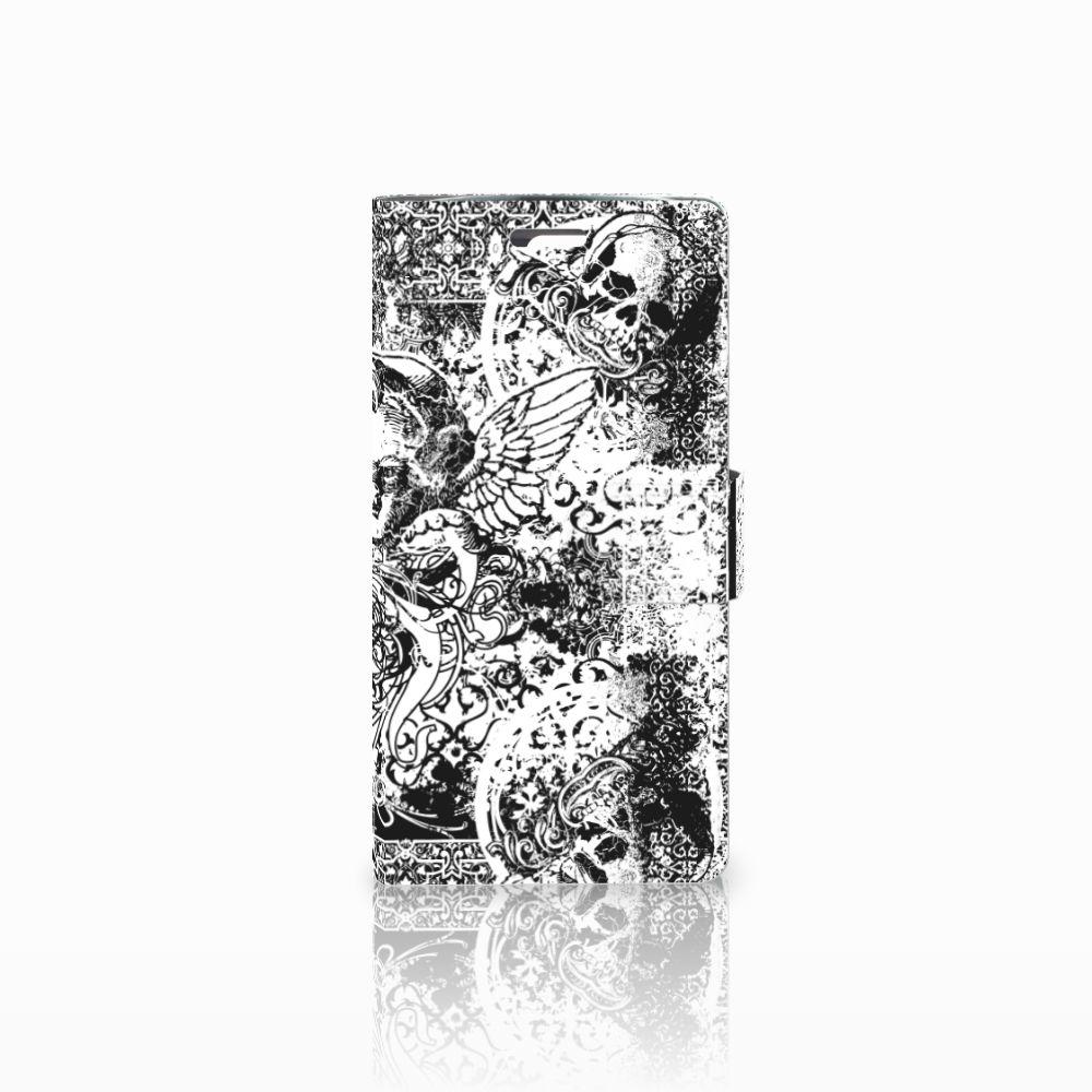 LG K10 2015 Boekhoesje Design Skulls Angel