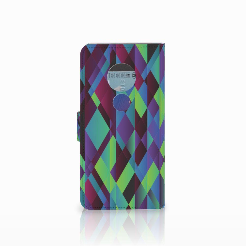 Motorola Moto E5 Bookcase Abstract Green Blue